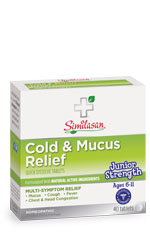 junior strength cold and mucus relief tablets