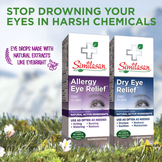 STOP DROWNING YOUR EYES IN HARSH CHEMICALS