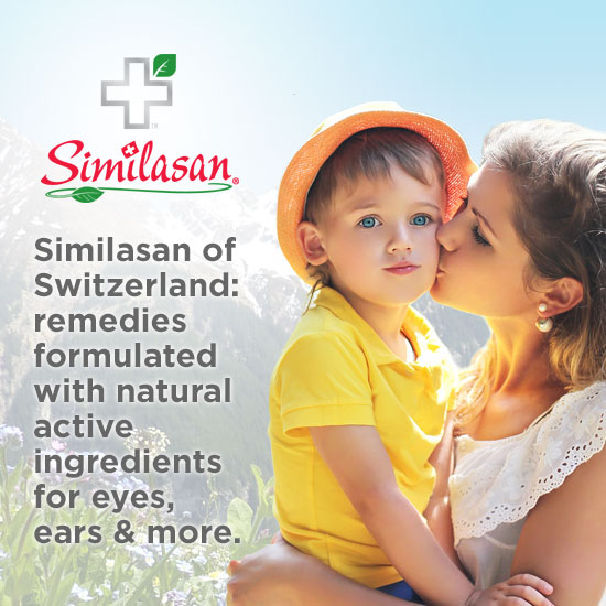 Similasan of Switzerland: remedies formulated with natural active ingredients for eyes, ears & more