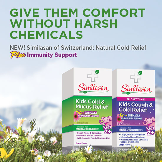 Similasan natural cough and cold syrups with immunity support for kids two and up