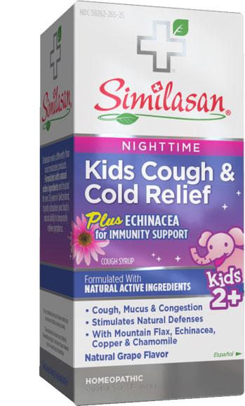 Alivio Nocturno para la Tos y los Resfriados Infantiles