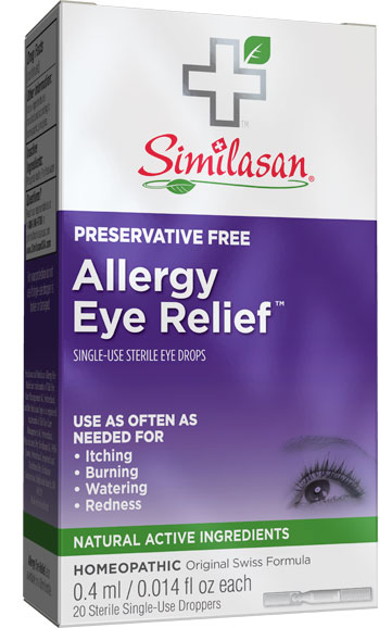 Alivio desechable para las alergias de los ojos