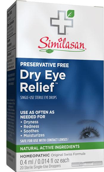 Alivio para la Sequedad de los Ojos Uso Individual