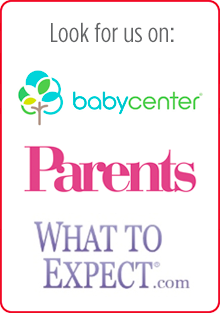 Look for us on: babycenter, Parents, What To Expect.com