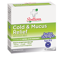 junior strength cold and mucus relief