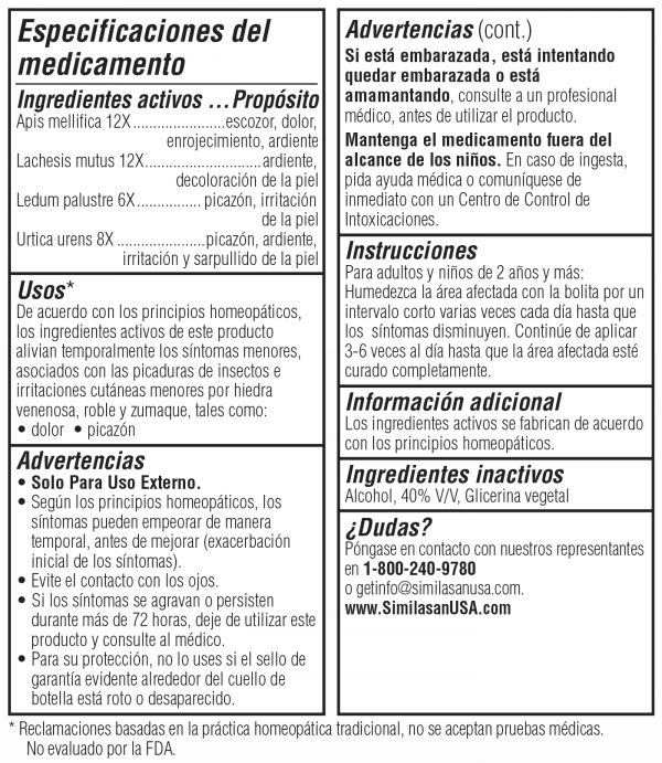 Especificaciones del Medicamento