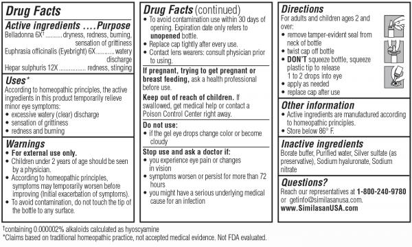 pink eye nighttime gel drug facts