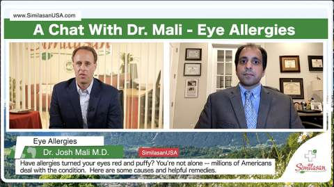 Live chat with Dr. Mali and Similasan: Allergy Eye Relief