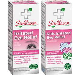 Irritated eye relief and kids irritated eye relief