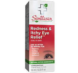 redness and itchy eye relief eye drops